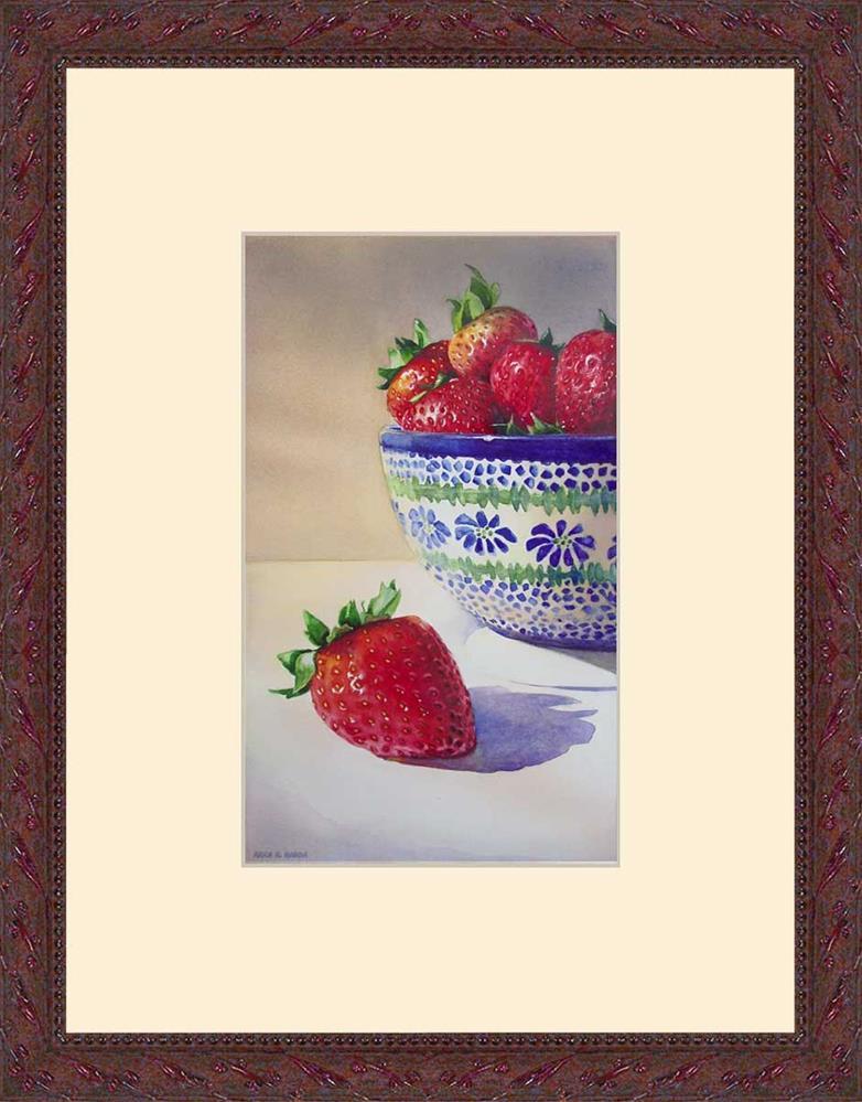 """Polish Strawberries"" original fine art by Kara K. Bigda"
