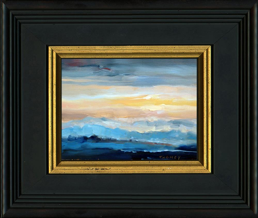 """Blue Ridge Mountains Sunset 1.0"" original fine art by Catherine Twomey"