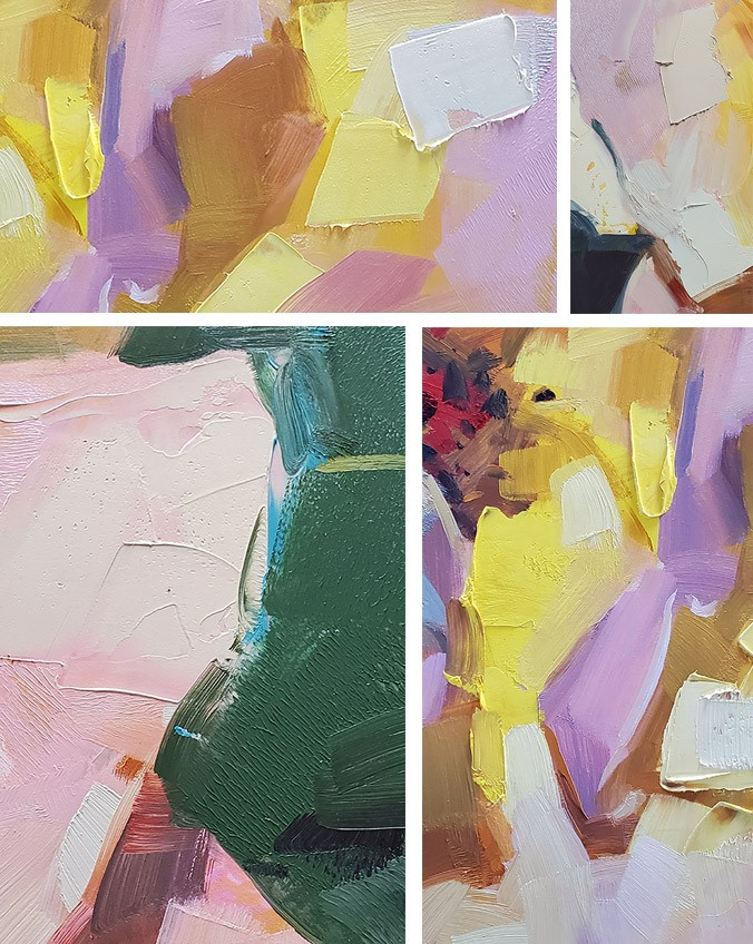 """Just Showing Off"" original fine art by Carol Marine"