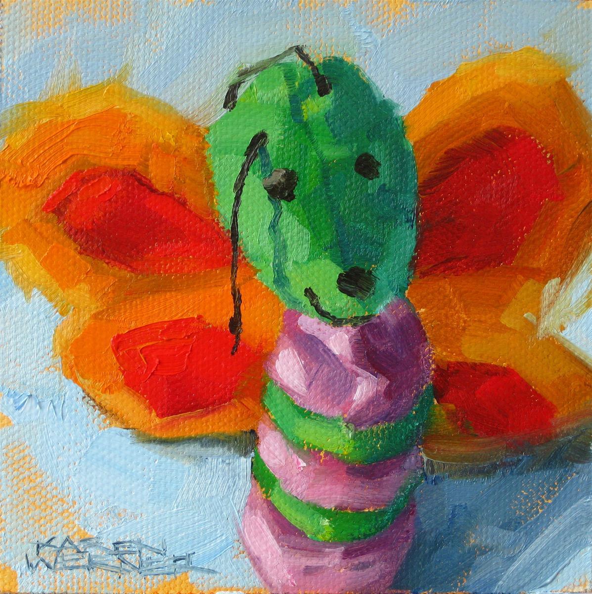 """Butterfly"" original fine art by Karen Werner"