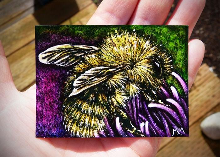 """Pollination - SA102"" original fine art by Monique Morin Matson"