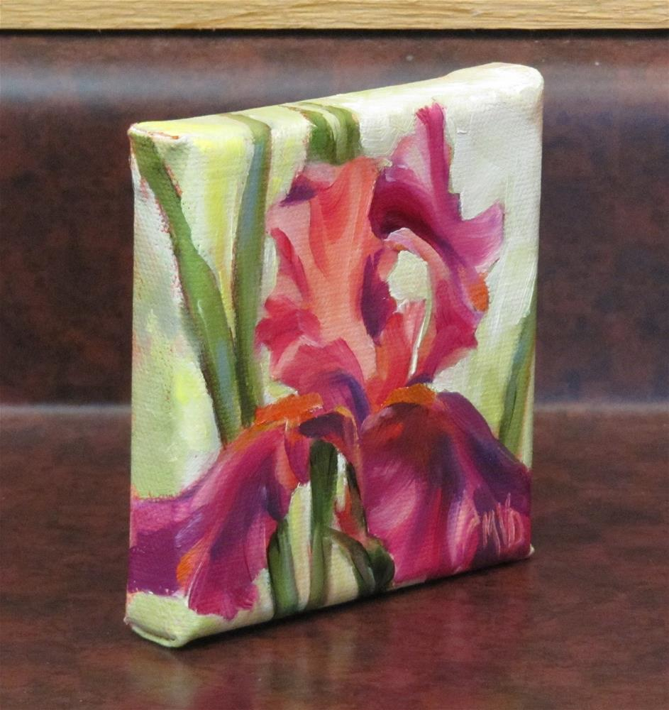 """Magenta Iris"" original fine art by Mary Van Deman"