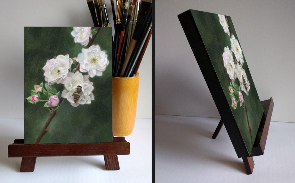 """""""Blossom Bee"""" original fine art by Ester Wilson"""