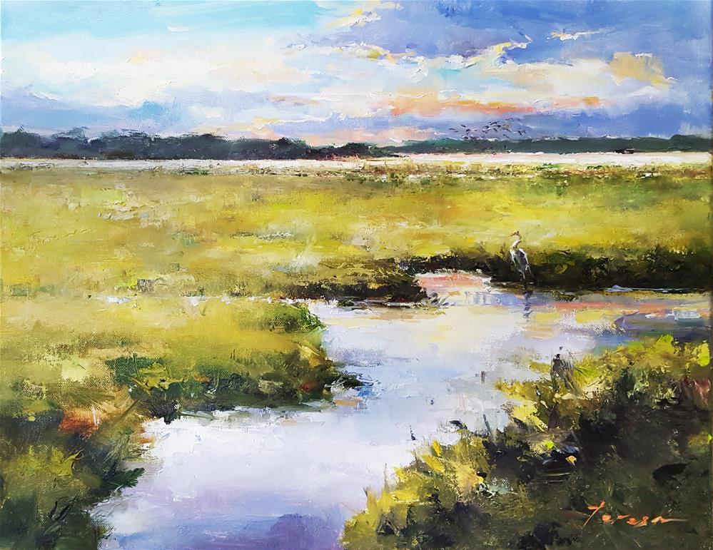 """marsh01"" original fine art by Teresa Yoo"