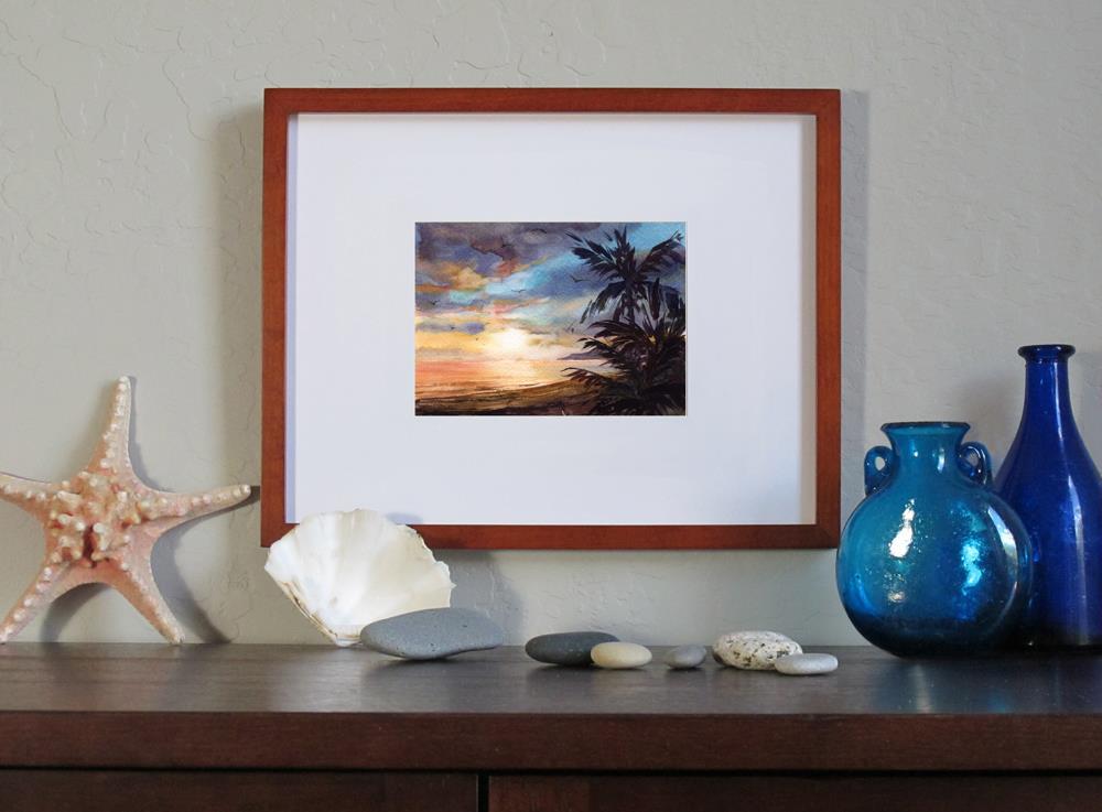 """Evening in Paradise"" original fine art by Linda Henry"