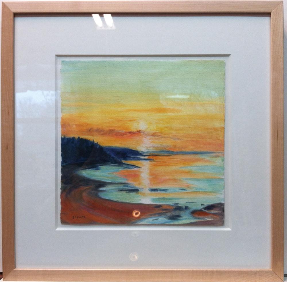 """Framed Belfast Sunrise"" original fine art by Lynne Schulte"