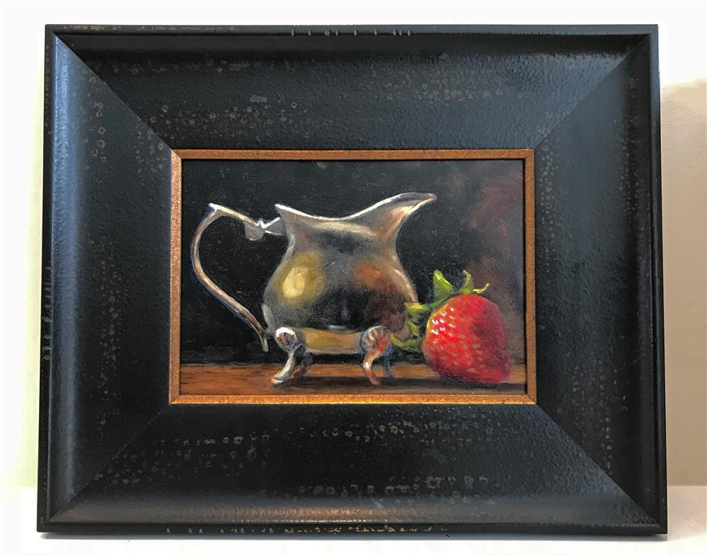 """Stawberry and Creamer"" original fine art by Sharon Egan"
