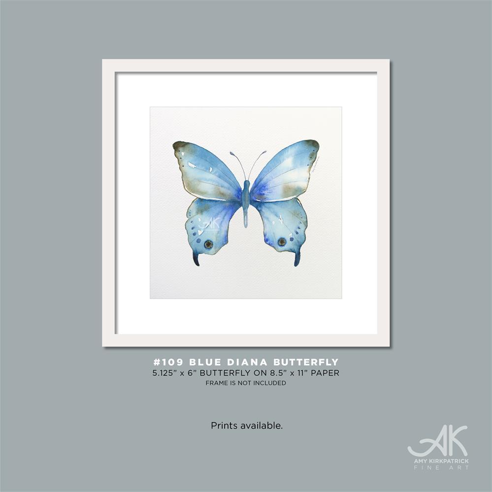 """#109 Blue Diana Butterfly"" original fine art by Amy Kirkpatrick"