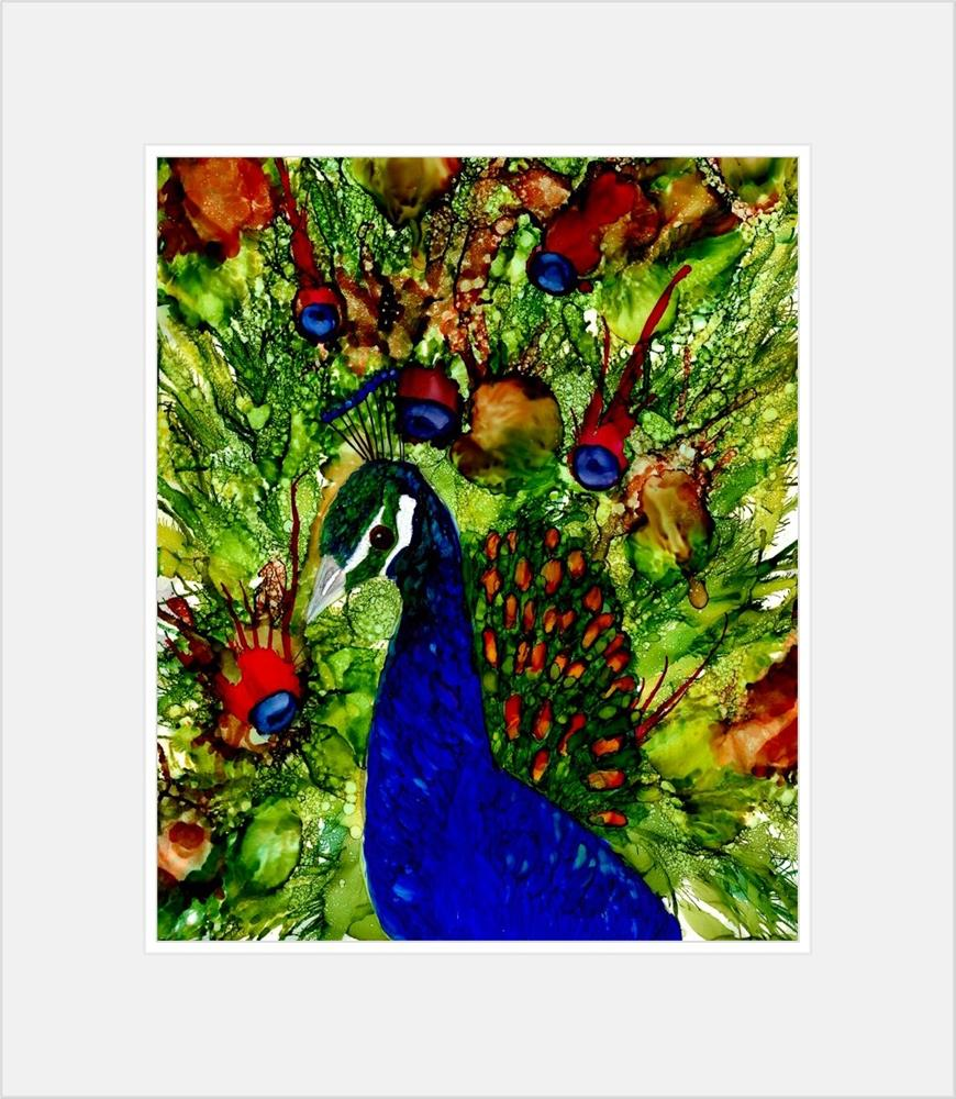 """Peacock I"" original fine art by Korinne Carpino"