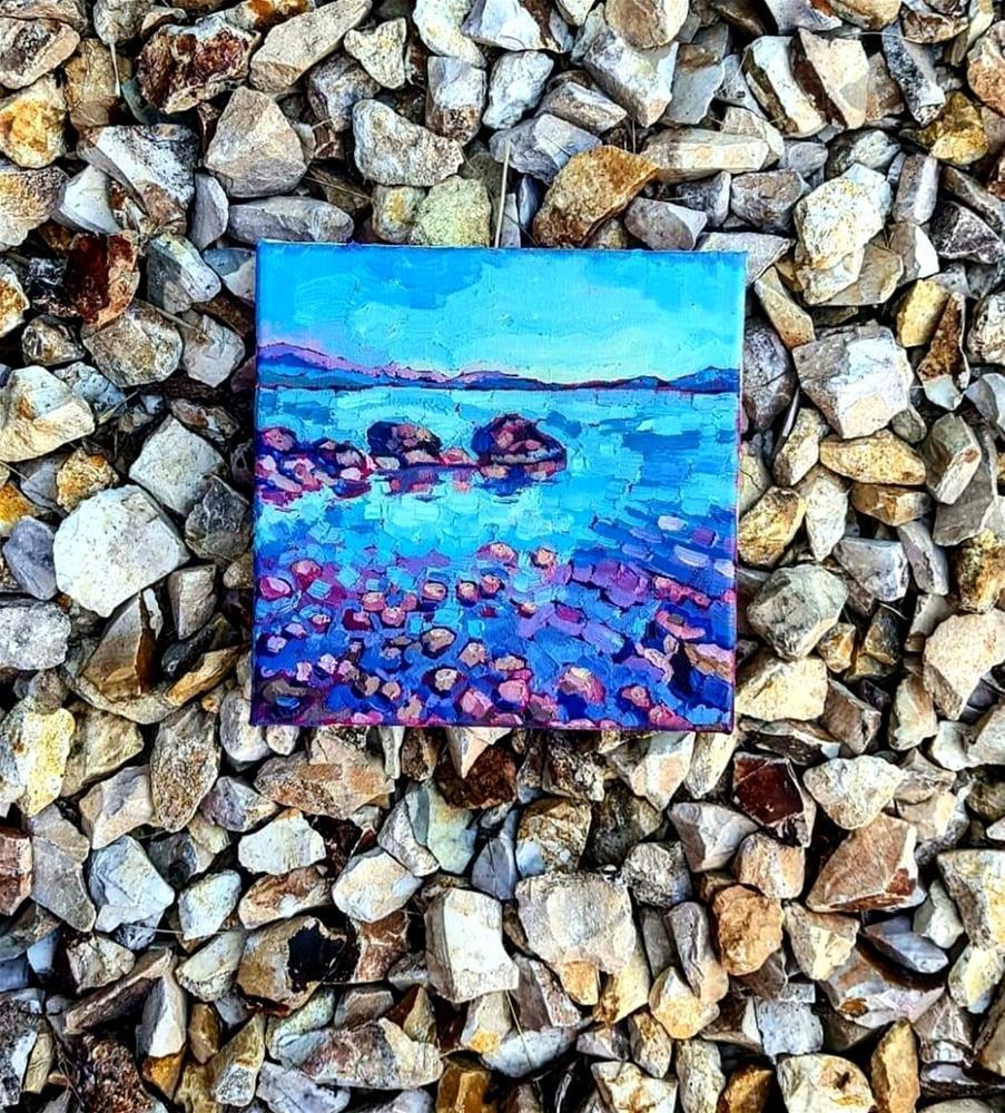 """""""Beach Pebbles"""" original fine art by Bhavna Misra"""