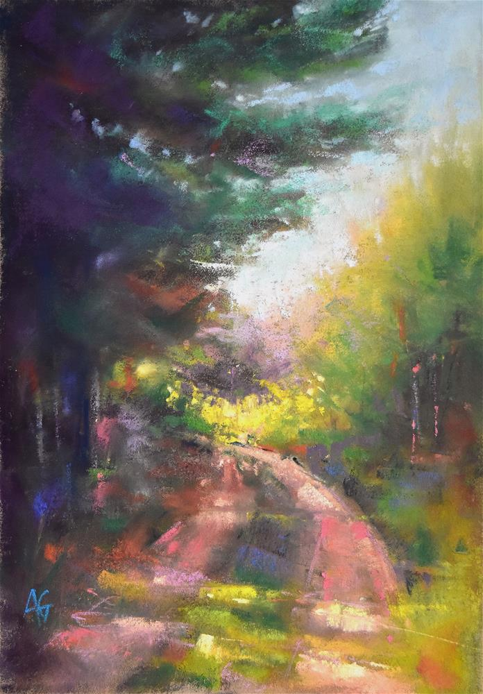 """""""Path in the forest 2 SALE"""" original fine art by Alejandra Gos"""