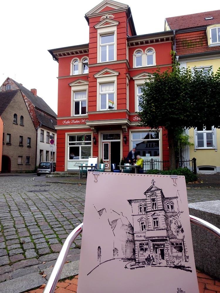 """""""3333 Cafe Am Markt 1"""" original fine art by Dietmar Stiller"""