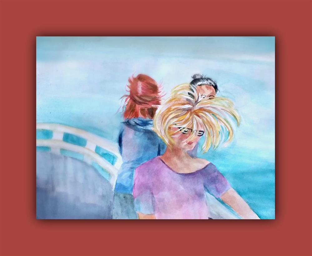 """Windy - Gusty Day"" original fine art by Dana C"