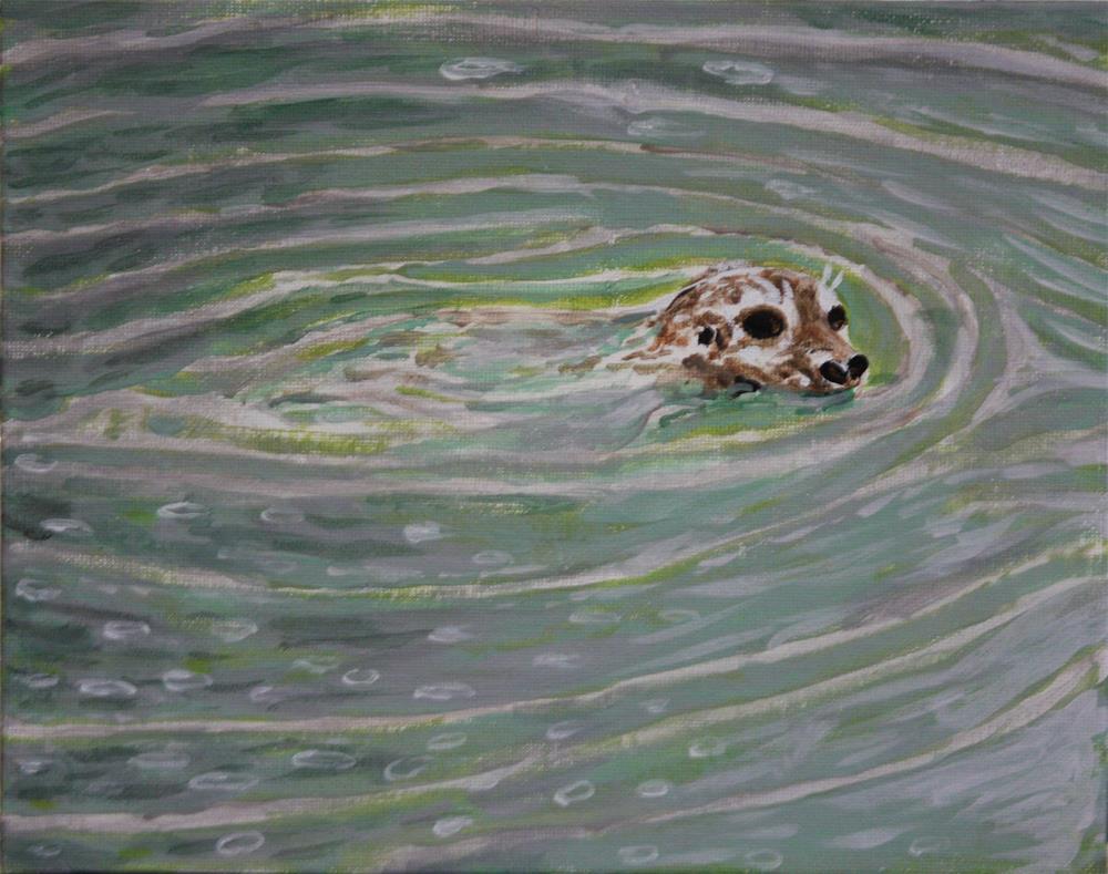 """Rainy Days Never Get Me Down"" original fine art by Terri-Anne Barge"