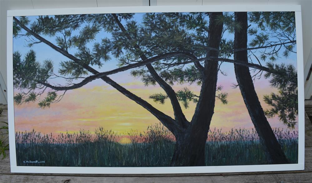 """""""Ocean Pines"""" original fine art by Kathleen McDermott"""