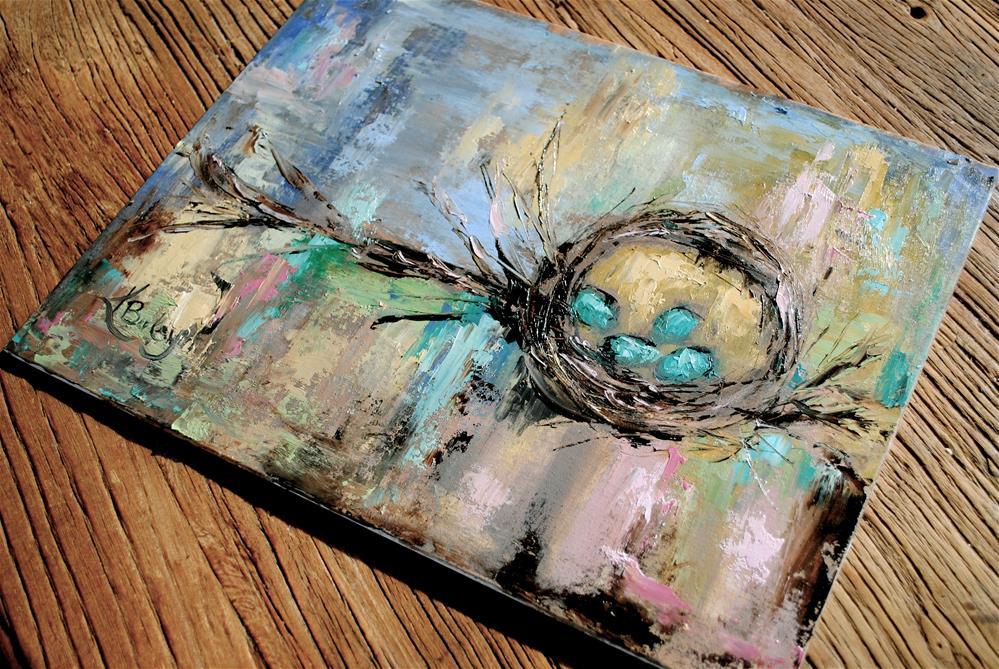 """Mama's Nest"" original fine art by Kelly Berkey"