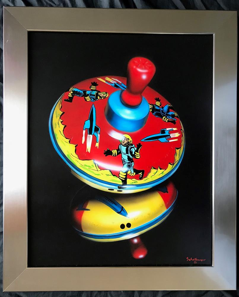 """""""Space Top with Reflection"""" original fine art by Fred Schollmeyer"""