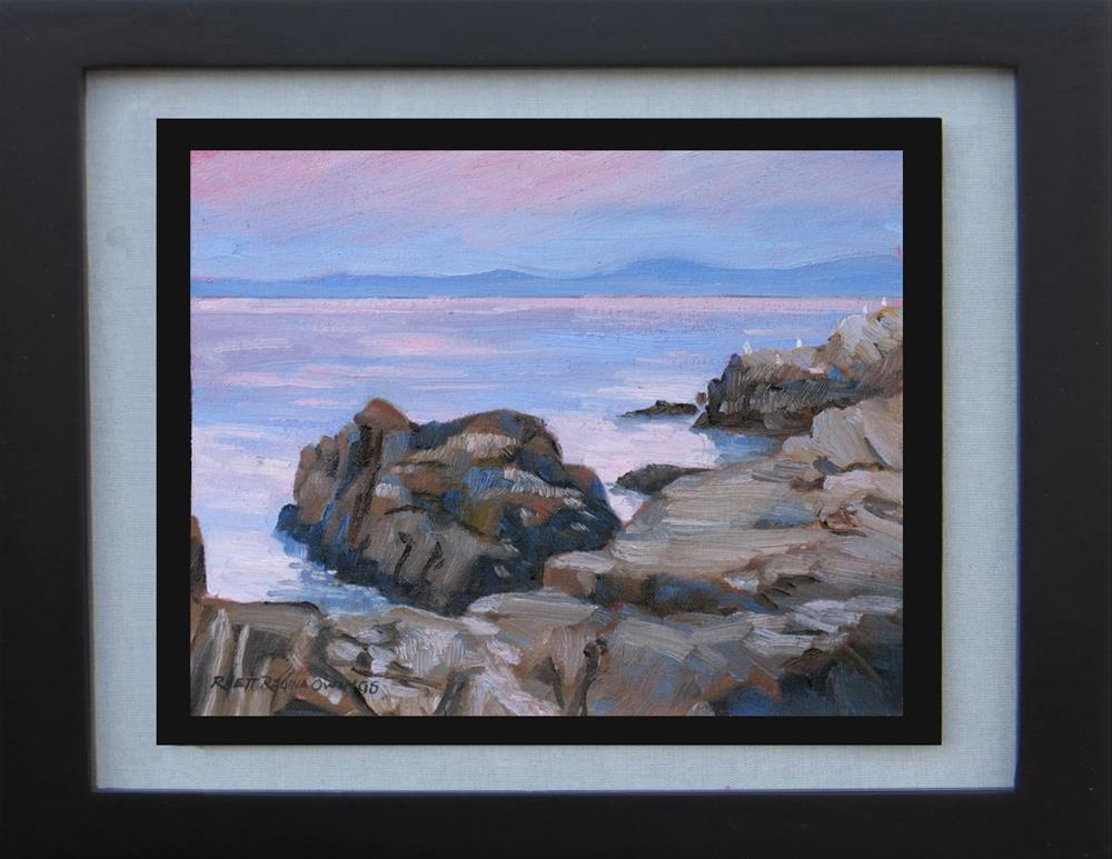 """Pacific Grove Sunset Rocks 3"" original fine art by Rhett Regina Owings"