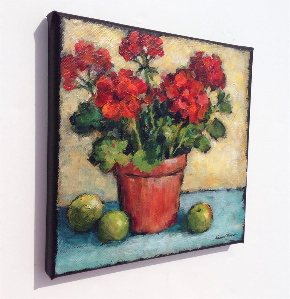 """Geranium Harvest"" original fine art by Nancy F. Morgan"