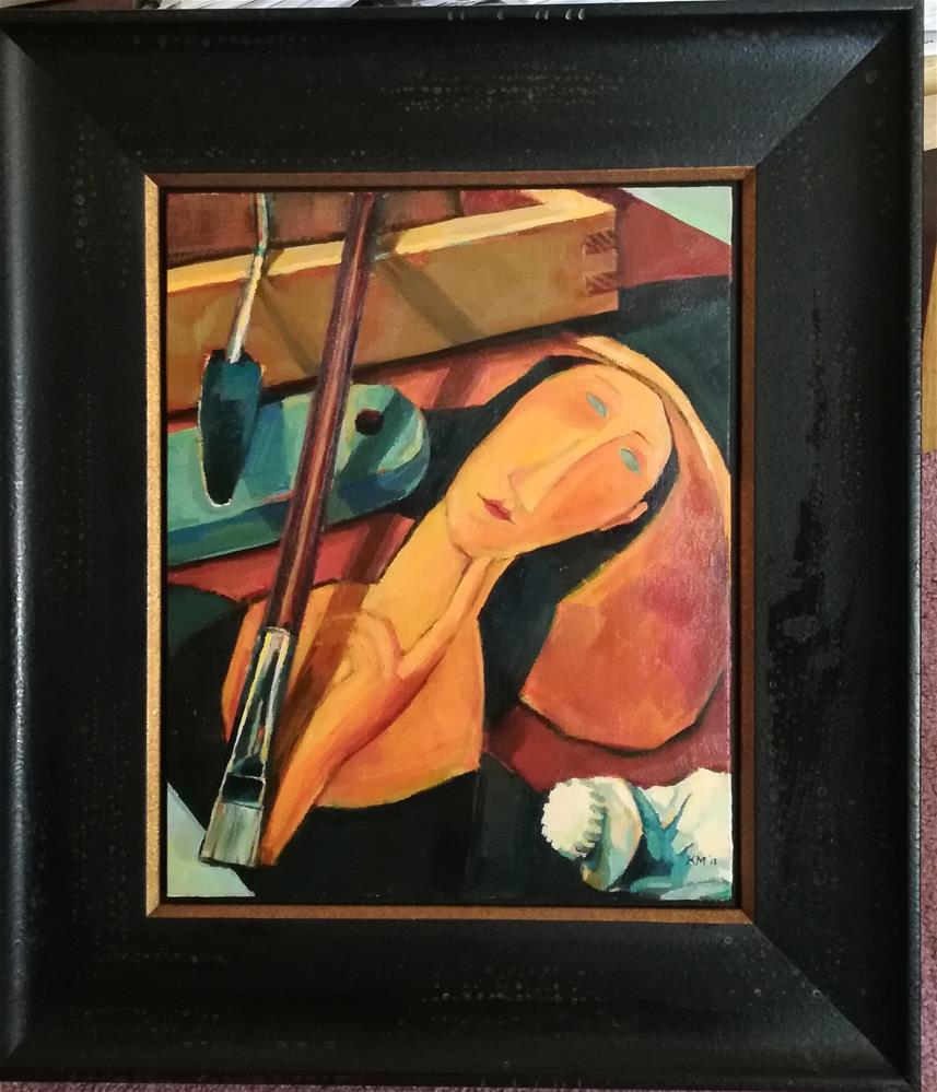 """Master Class with the Muse (framed)"" original fine art by Katya Minkina"