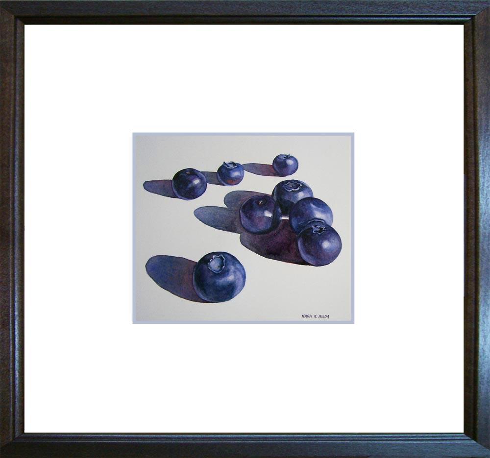 """""""Simply Blueberries"""" original fine art by Kara K. Bigda"""