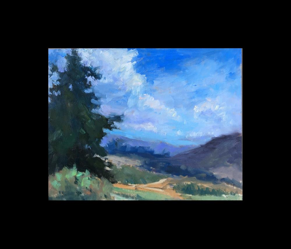 """Down in the Valley"" original fine art by Victoria  Biedron"