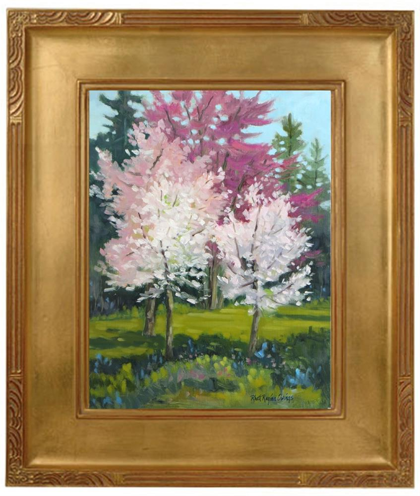 """Spring Trees"" original fine art by Rhett Regina Owings"