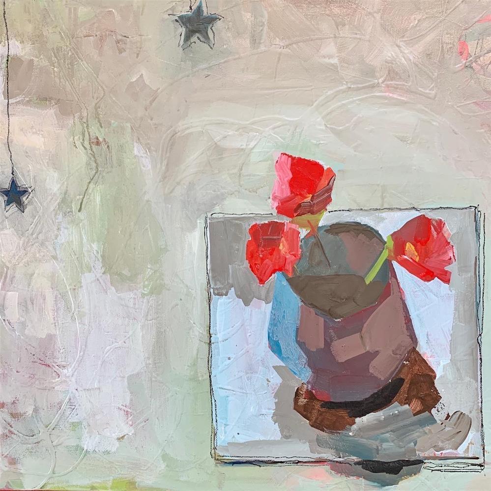 """742 Stars & Petals"" original fine art by Jenny Doh"