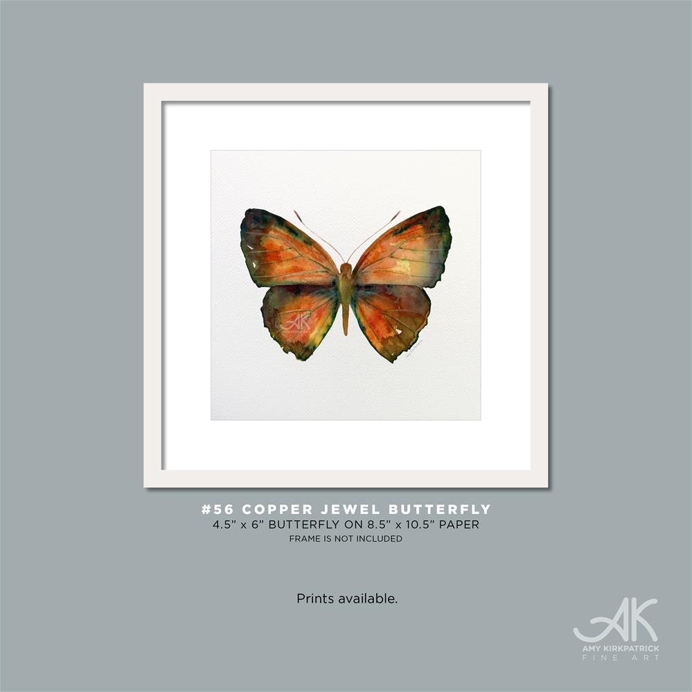 """#56 Copper Jewel Butterfly #0366"" original fine art by Amy Kirkpatrick"
