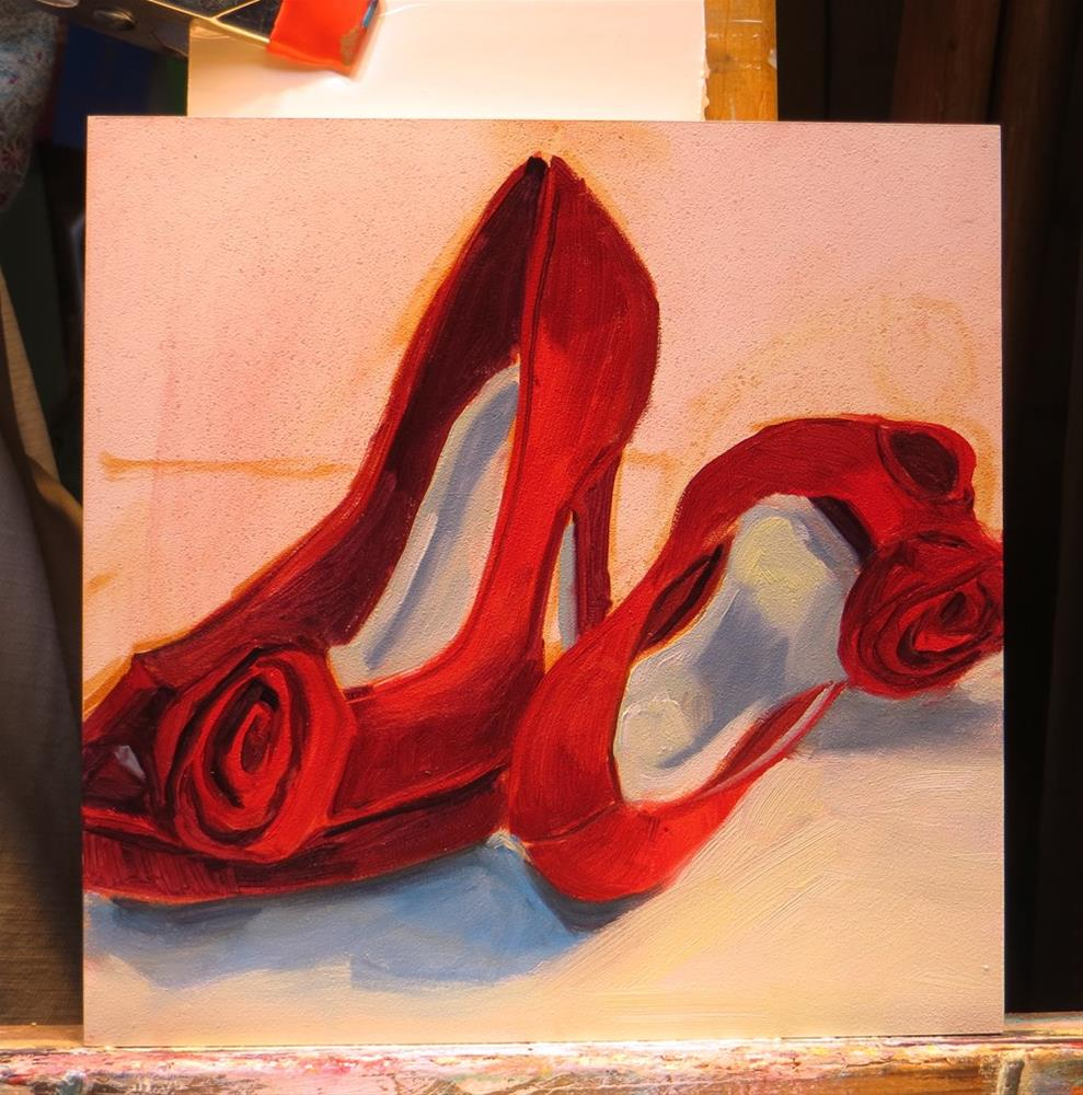 """Red Shoes"" original fine art by Rhett Regina Owings"