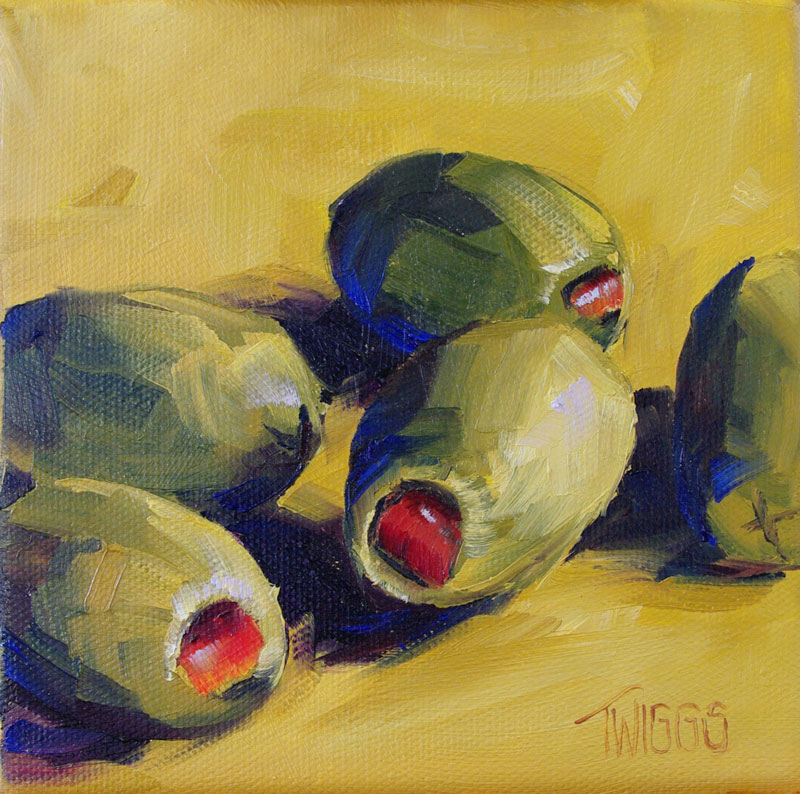 """Green Olives 2"" original fine art by Lori Twiggs"