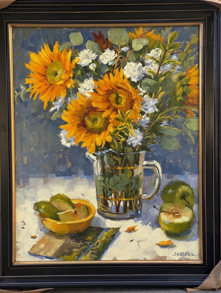 """""""Sunflower Song"""" original fine art by Karen Werner"""
