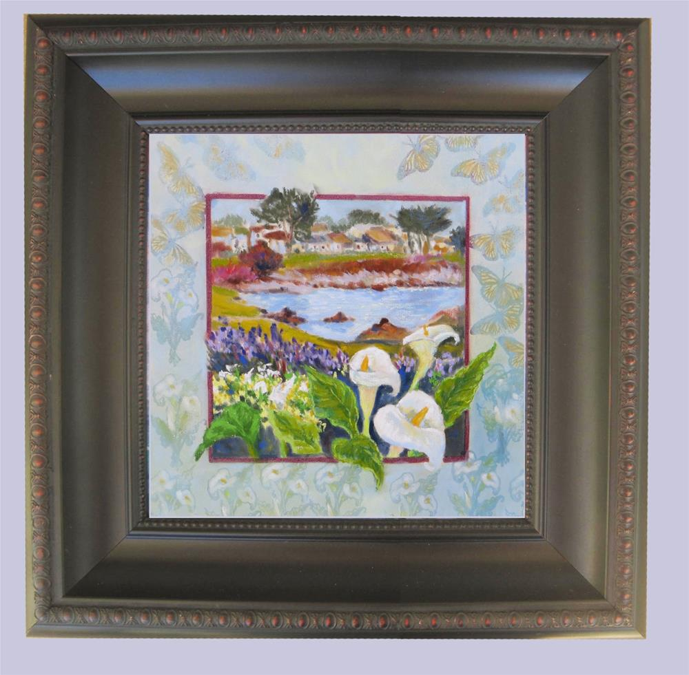 """Callas and Butterflies in Pacific Grove"" original fine art by Rhett Regina Owings"
