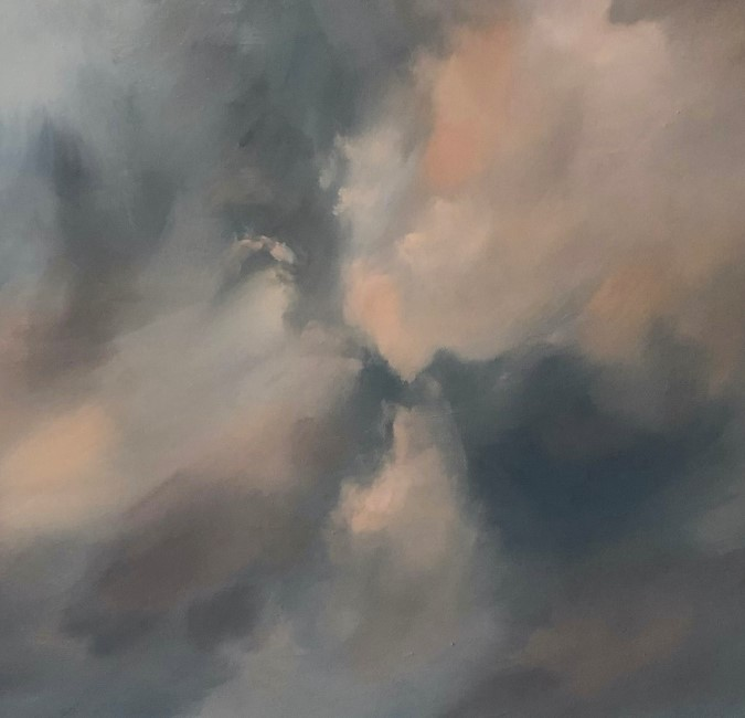 """Battle in the Sky"" original fine art by Christine E. S. Code"
