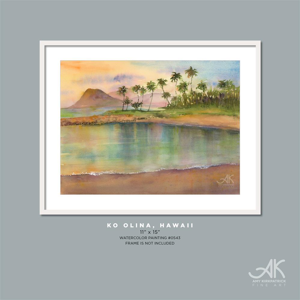 """KO OLINA, HAWAII #0543"" original fine art by Amy Kirkpatrick"