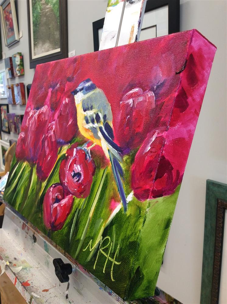 """Tulip Topper"" original fine art by Molly Rohrscheib Hathaway"