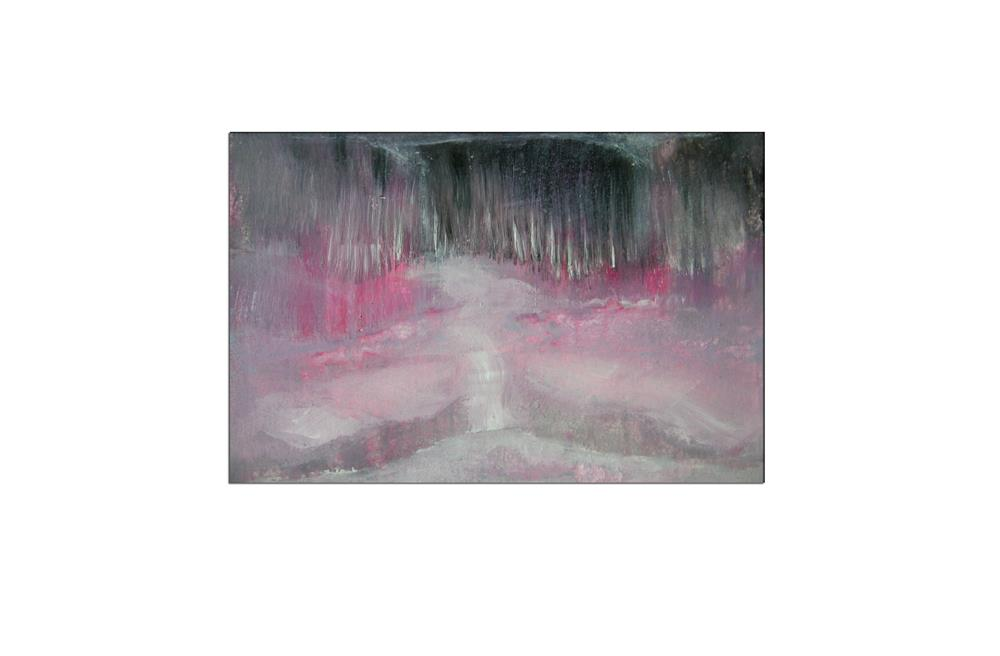 """""""Pink Grey Abstract Landscape"""" original fine art by Alina Frent"""