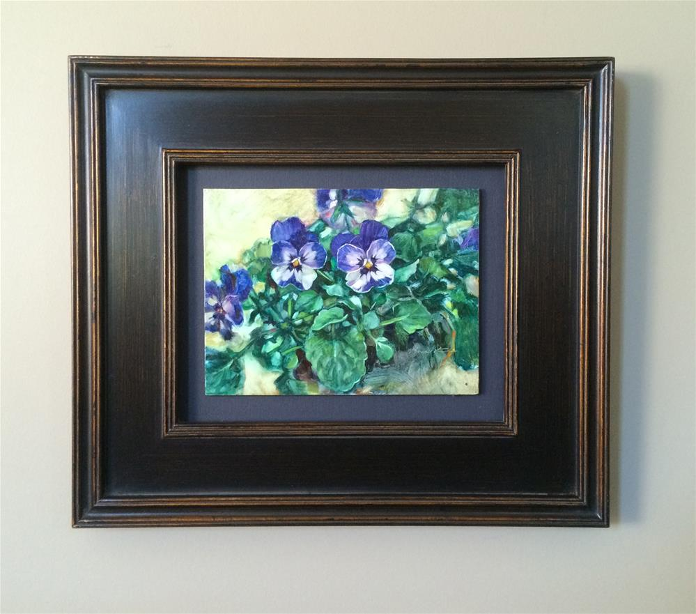 """a (framed) Blues"" original fine art by Nicoletta Baumeister"
