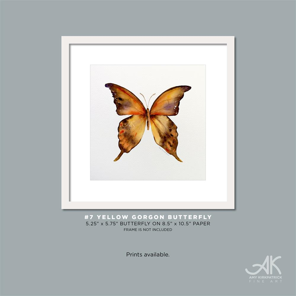 """#7 Yellow Gorgon Butterfly #0316)"" original fine art by Amy Kirkpatrick"