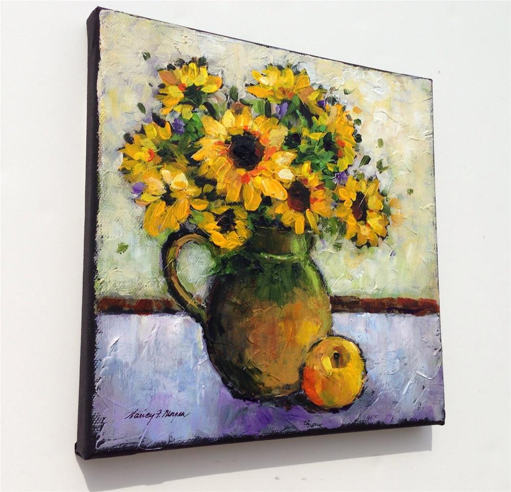 """Sunday Sunflowers"" original fine art by Nancy F. Morgan"