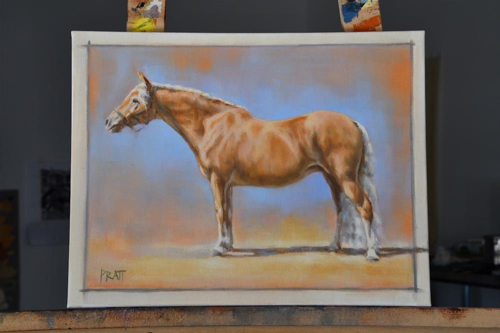 """Haflinger - Side Elevation"" original fine art by Jennifer Pratt"