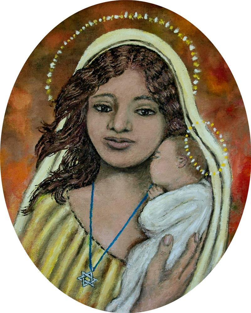 """Madonna of the Star of David (C) 2012 by K. McDermott"" original fine art by Kathleen McDermott"