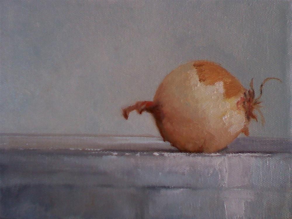 """yellow onion"" original fine art by Judith Anderson"