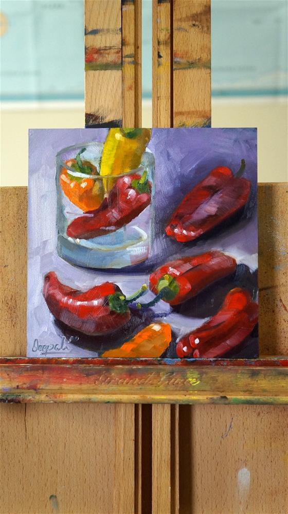 """Peppers"" original fine art by Dipali Rabadiya"