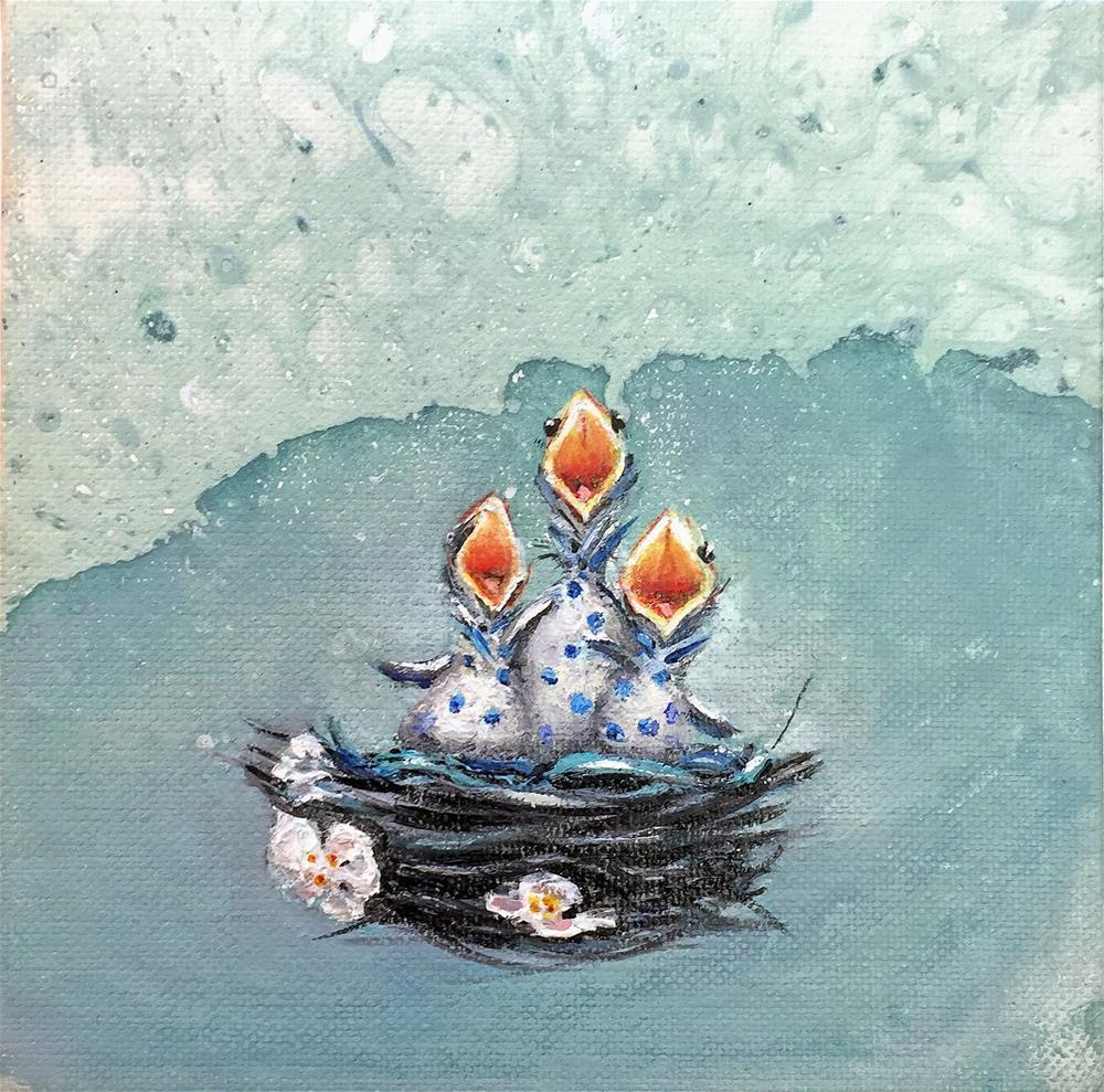 """Beaks 4! For Patsy!"" original fine art by Sunny Avocado"