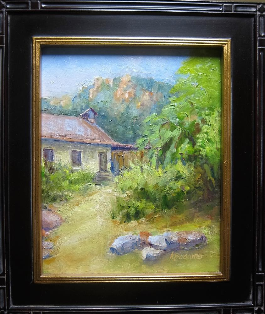 """Sliding Rock"" original fine art by Kathy Bodamer"