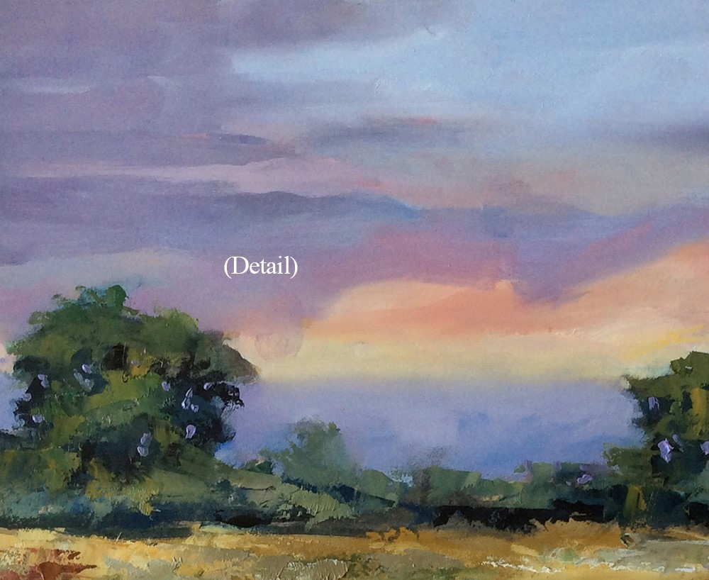 """SUNSET"" original fine art by Tom Brown"
