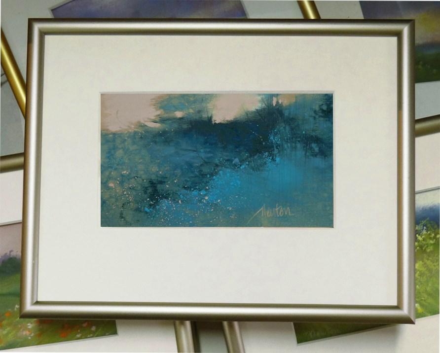 """""""Bramble Blue"""" original fine art by Barbara Benedetti Newton"""