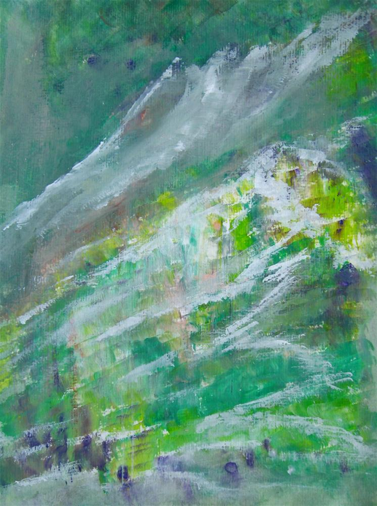 """Mountains Landscape Painting"" original fine art by Alina Frent"