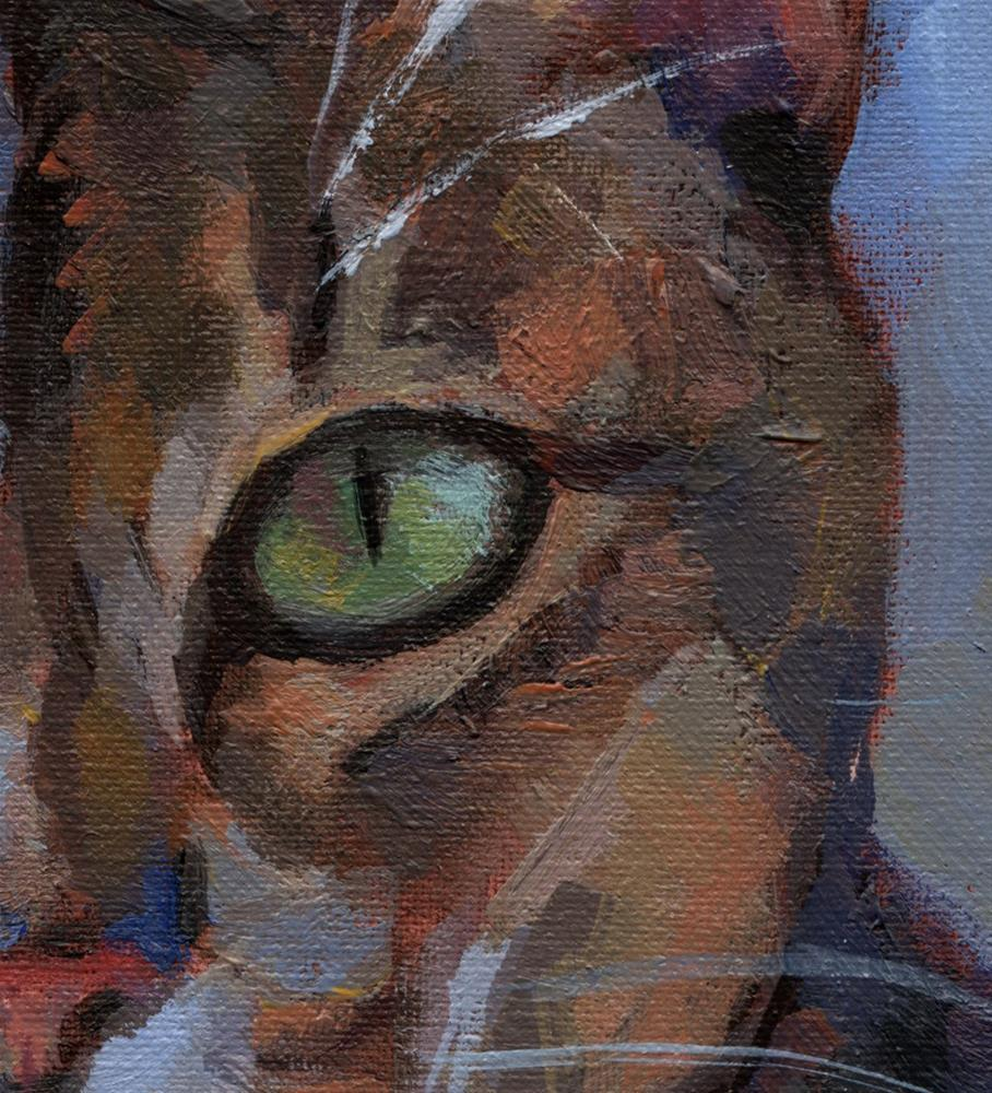 """Intense Green Eyes"" original fine art by J. Dunster"